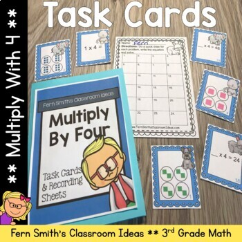 Multiply By Four Task Cards