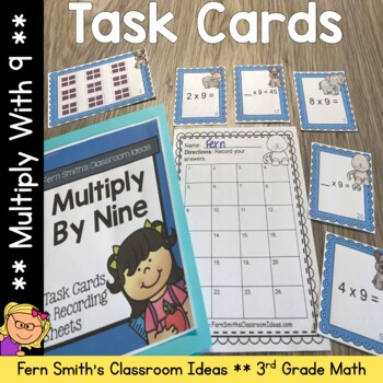 3rd Grade Go Math Chapter Four 4.9 Multiply With Nine Task Cards