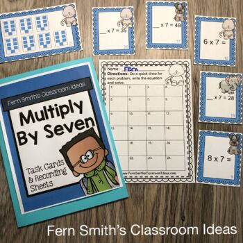 3rd Grade Go Math Chapter Four 4.5 Multiply With Seven Task Cards