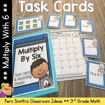 Multiply By Six Task Cards