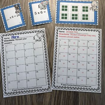 3rd Grade Go Math 4.3 Multiply With Six Task Cards