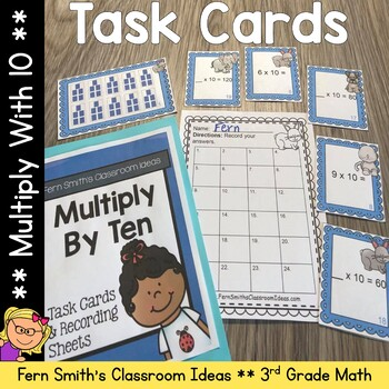 3rd Grade Go Math Chapter Four 4.2 Multiply With Ten Task Cards