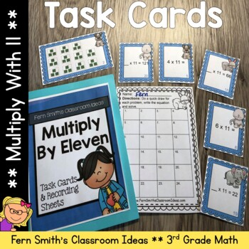 Multiply By Eleven Task Cards