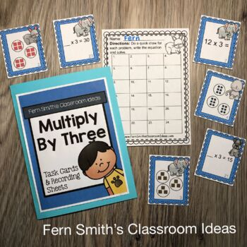 3rd Grade Go Math 4.3 Multiply With Three Task Cards