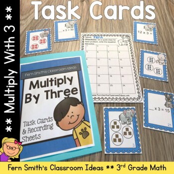 Multiply By Three Task Cards