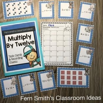 Multiply By Twelve Task Cards