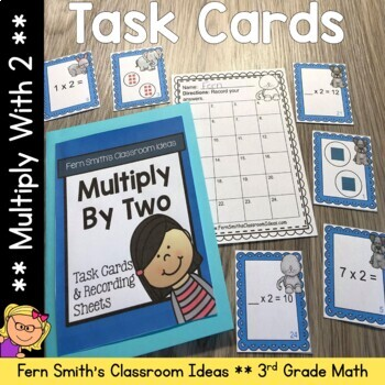 3rd Grade Go Math Chapter Four 4.1 Multiply With Two Task Cards