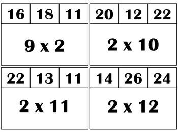 Multiply & Clip 2's & 3's