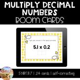 Multiply Decimal Numbers Boom Cards