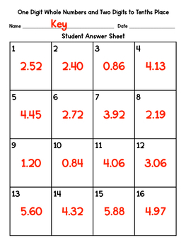Multiply Decimals 1 Digit Whole Number and 2 Digits Hundredths Place Task Cards