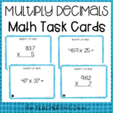 5th Grade Multiply Decimals Task Cards | Multiply Decimals Center