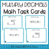 5th Grade Multiply Decimals Task Cards | Multiply Decimals Center