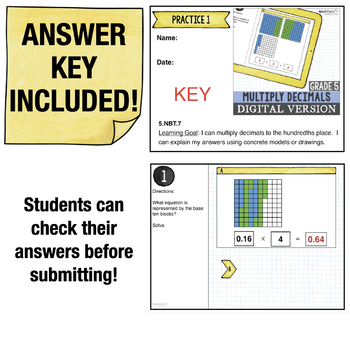Multiply Decimals - 5th Grade Digital Resource for use with Google Classroom™