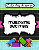 Multiply Decimals - A Color-My-Answer Activity