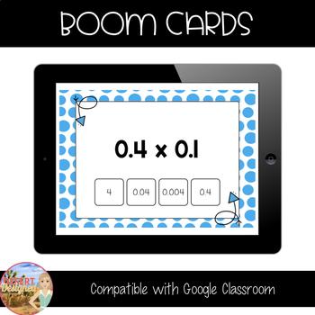 Multiply Decimals - Boom Cards