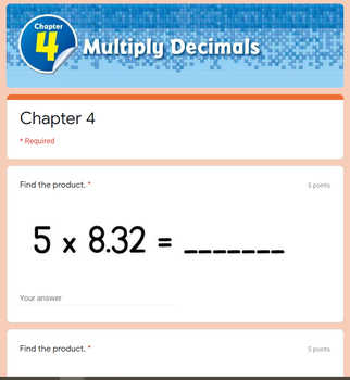 Multiply Decimals - Go Math 5th Grade Chapter 4