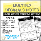 Multiply Decimals Notes