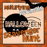 Multiply Decimals Scavenger Hunt Halloween