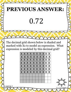 Multiply Decimals With Base 10 Blocks - Scavenger Hunt (5.NBT.B.7)