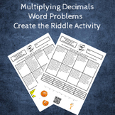 Multiplying Decimals Word Problems Create the Riddle Activity