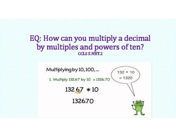 Multiply Decimals by Powers of 10 PowerPoint