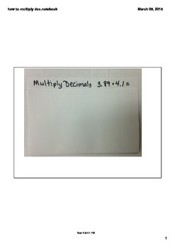 Multiply Decimals foldable