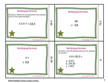 Multiply Decimals to Hundredths Task Cards