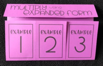 expanded form foldable  Multiply Decimals using Expanded Form (Foldable)
