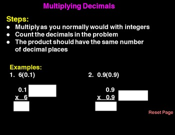 Multiply Decimals with Grids Flipchart