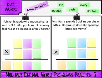 Multiply Decimals with Negatives: DIGITAL NOTES & SELF-GRADING QUIZ