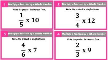 Multiply & Divide Fractions Task Cards Bundled (5.NF.4 and 5.NF.7)