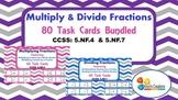 Multiply & Divide Fractions Task Cards Bundled (5.NF.4 and