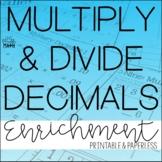 Multiply & Divide Decimals Enrichment: Decimals Logic Puzzles