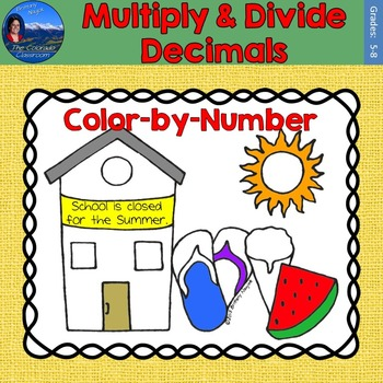 Multiply & Divide Decimals Math Practice End of Year Color by Number