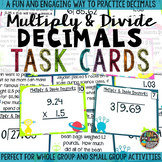 Multiply and Divide Decimals Task Cards & Game