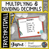 Multiplying and Dividing Decimals Trashketball Math Game