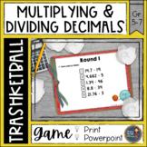 Multiplying and Dividing Decimals Trashketball Math Game