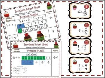 Multiply & Divide Fraction Cup Cakes!