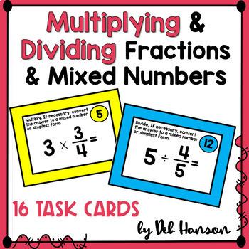 Multiplying & Dividing Fractions BUNDLE (based on 5th Grade CCSS)