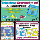 Multiplying & Dividing Fractions BUNDLE (based on 5th Grade CCSS)
