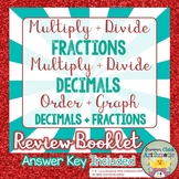 Multiply and Divide Fractions and Decimals Booklet