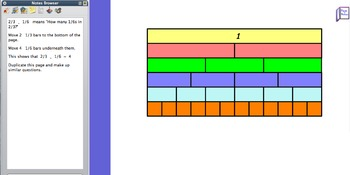 Multiply Divide Fractions Flipchart with visuals