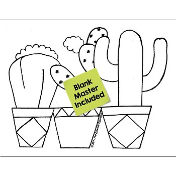 Multiply & Divide Fractions Math Practice Cactus Color by Number