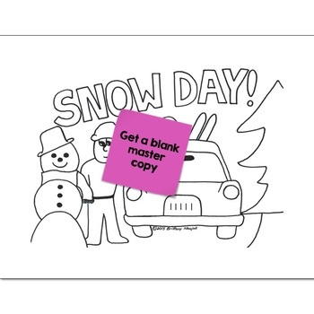 Multiply & Divide Fractions Math Practice Snow Day Color by Number
