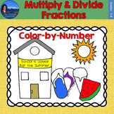 Multiply & Divide Fractions Math Practice End of Year Colo