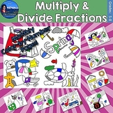 Multiplying and Dividing Fractions Monthly Color by Number Bundle