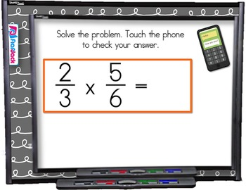 Multiply Divide Fractions SMART BOARD Game (CSS 5.NF.B.3 a