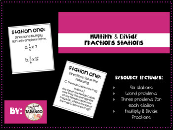 Multiply & Divide Fractions Stations