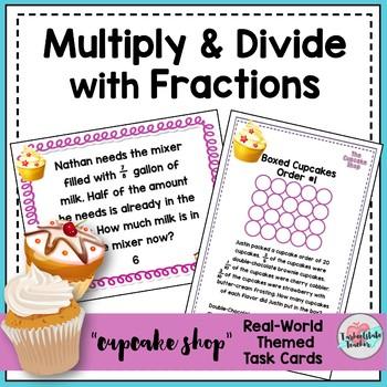 Multiply Fractions Task Cards   Divide Fractions Task Cards