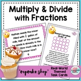 Multiply Fractions Task Cards | Divide Fractions Task Cards